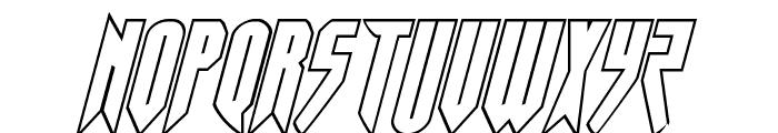 Opus Magnus Outline Italic Font UPPERCASE