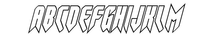 Opus Magnus Outline Italic Font LOWERCASE