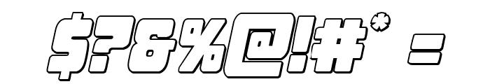 Opus Mundi 3D Italic Font OTHER CHARS