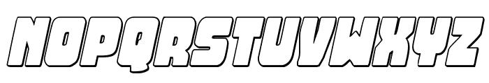 Opus Mundi 3D Italic Font UPPERCASE