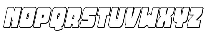Opus Mundi 3D Italic Font LOWERCASE