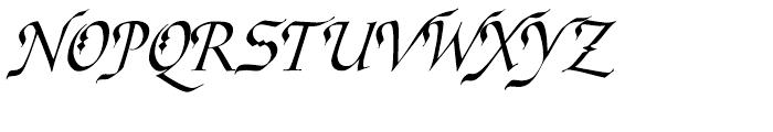 Ophelia Italic Font UPPERCASE
