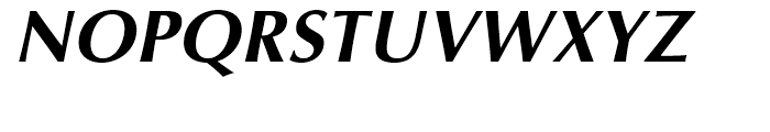 Optima Cyrillic Bold Oblique Font UPPERCASE