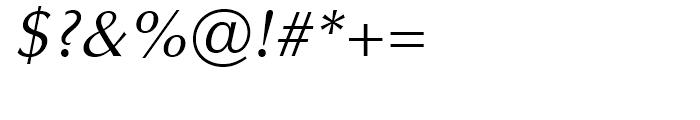 Optima Cyrillic Oblique Font OTHER CHARS