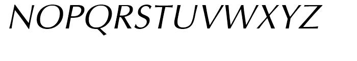 Optima Cyrillic Oblique Font UPPERCASE