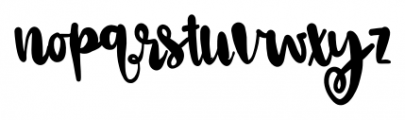 Ophelia Regular Font LOWERCASE
