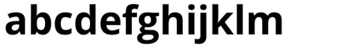 Open Sans Bold Font LOWERCASE