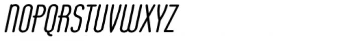 Operator Nine BTN Bold Oblique Font UPPERCASE