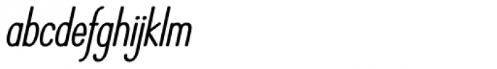 Operator Nine BTN Bold Oblique Font LOWERCASE