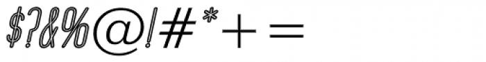 Operator Nine BTN Inline Oblique Font OTHER CHARS