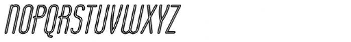 Operator Nine BTN Inline Oblique Font UPPERCASE