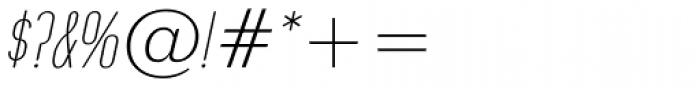 Operator Nine BTN Light Oblique Font OTHER CHARS