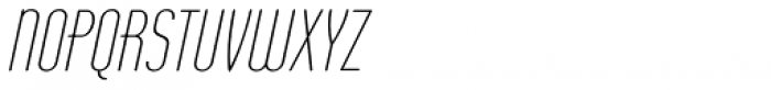 Operator Nine BTN Light Oblique Font UPPERCASE