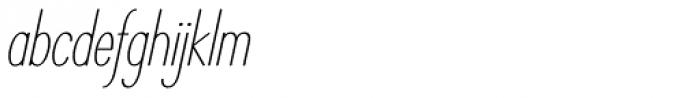 Operator Nine BTN Light Oblique Font LOWERCASE