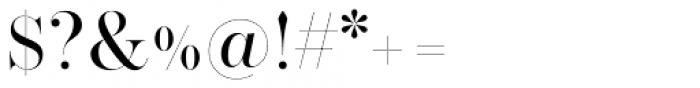 Operetta 32 Regular Font OTHER CHARS