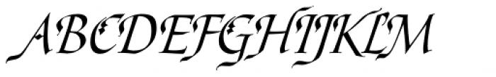 Ophelia Std Italic Font UPPERCASE