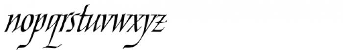 Ophelia Std Italic Font LOWERCASE