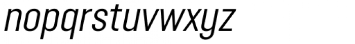 Opinion Pro Condensed Italic Font LOWERCASE