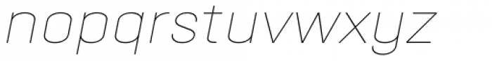Opinion Pro Extended Thin Italic Font LOWERCASE
