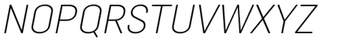 Opinion Pro Extra Light Italic Font UPPERCASE