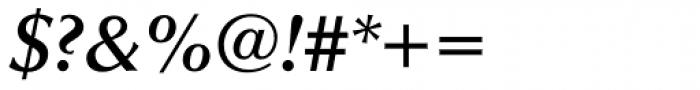 Optima DemiBold Italic Font OTHER CHARS