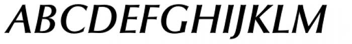 Optima DemiBold Italic Font UPPERCASE