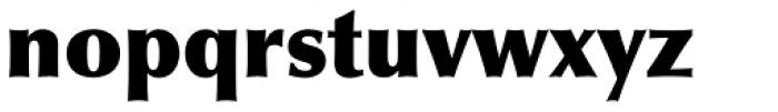 Optima ExtraBlack Font LOWERCASE