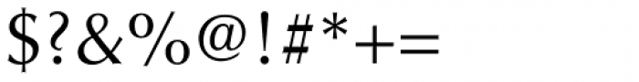 Optima Roman Font OTHER CHARS