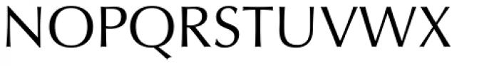 Optima Roman Font UPPERCASE