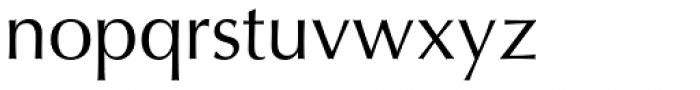 Optima Roman Font LOWERCASE