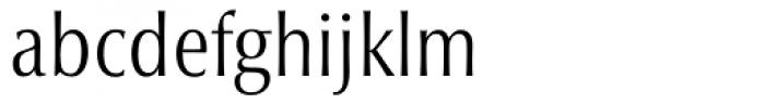 Optima nova Condensed Light Font LOWERCASE