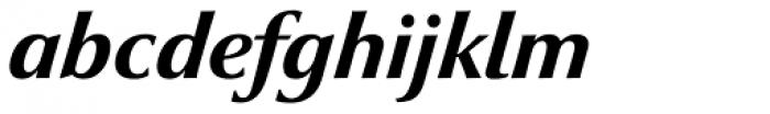 Optima nova Heavy Italic Font LOWERCASE