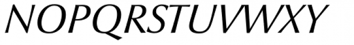 Optima nova Italic OsF Font UPPERCASE