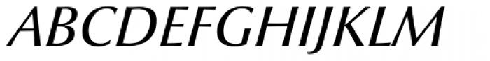 Optima nova Medium Italic OsF Font UPPERCASE