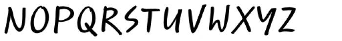 Optiscript EF Cond Font UPPERCASE