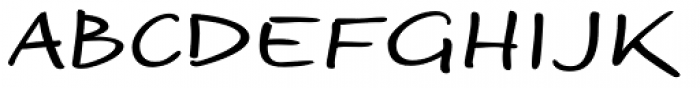 Optiscript EF Regular Font UPPERCASE