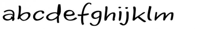 Optiscript EF Regular Font LOWERCASE