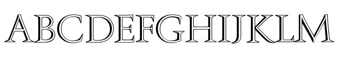 Openface-Regular Font UPPERCASE