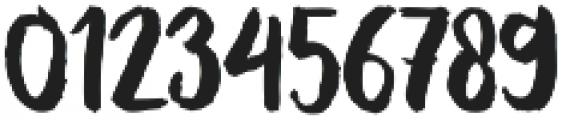 Oqagies Brush Regular otf (400) Font OTHER CHARS