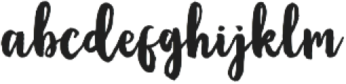 Oqagies Brush Regular otf (400) Font LOWERCASE