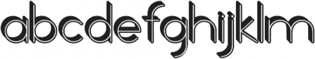 Orbicular 3d otf (400) Font LOWERCASE