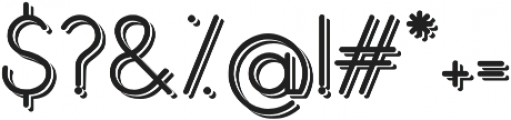 Orbicular bold shadow black otf (700) Font OTHER CHARS
