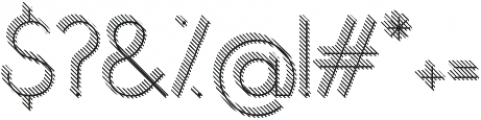 Orbicularstriped 3d otf (400) Font OTHER CHARS