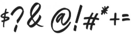 Oregon Script Alt otf (400) Font OTHER CHARS
