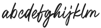 Oregon Script Alt otf (400) Font LOWERCASE