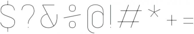 Orev Edge Thin otf (100) Font OTHER CHARS