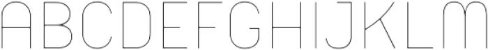 Orev Edge Thin otf (100) Font UPPERCASE