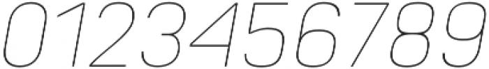 Orev ExtraLight Italic otf (200) Font OTHER CHARS
