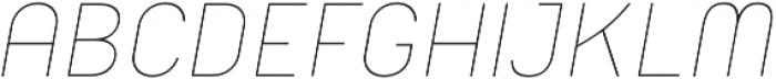 Orev ExtraLight Italic otf (200) Font UPPERCASE