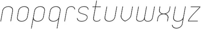 Orev ExtraLight Italic otf (200) Font LOWERCASE